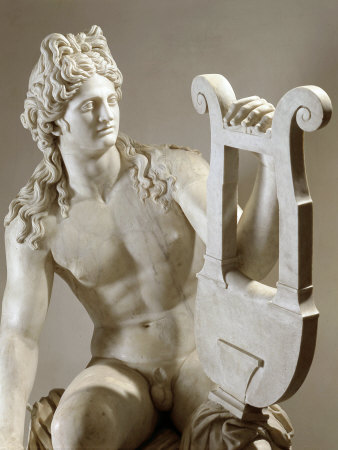 Apollo Playing the Zither, Marble, 1st century AD Photographic Print