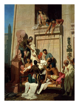 Mark Antony Brought Dying to Cleopatra VII, Queen of Egypt Giclee Print by Ernest Hillemacher