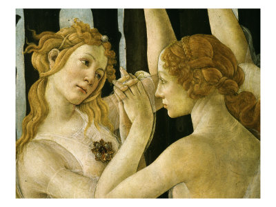 La Primavera (Spring) Detail of Two of the Three Graces c.1475 Giclee Print by Sandro Botticelli