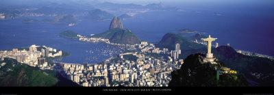 View over the City and Bay, Rio de Janeiro Kunst af Tom Mackie