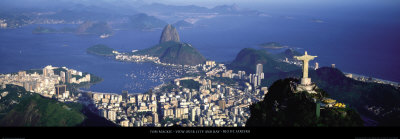 View over the City and Bay, Rio de Janeiro Art Print