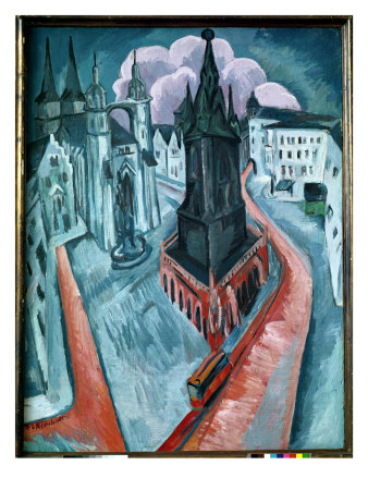 The Red Tower in Halle, 1915 reproduction procédé giclée