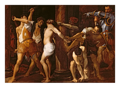 The Flagellation of Christ, 1586-87 Giclée-tryk af Ludovico Carracci