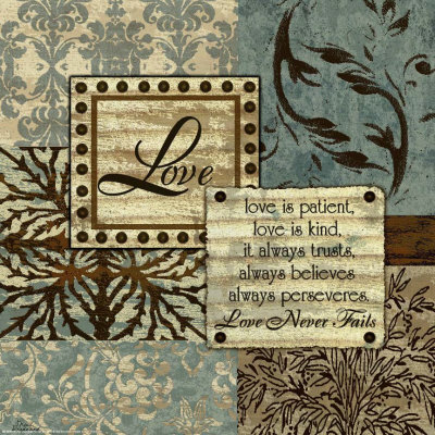Blue and Brown Love Prints by Marilu Windvand