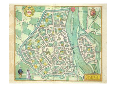 Map of Maastricht, from 'Civitates Orbis Terrarum' by Georg Braun Giclee Print by Joris Hoefnagel