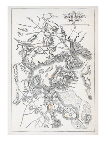 Boston and its Environs in 1775 and 1776 Giclee Print