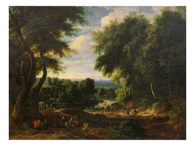 The Road to Boitsfort from Auderghem and the Ten Reuken Pond Giclee Print by Jacques d'Arthois