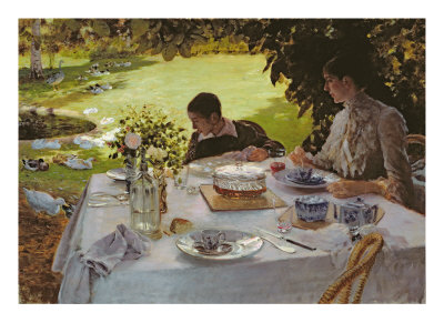 Breakfast in the Garden, 1883 reproduction procédé giclée