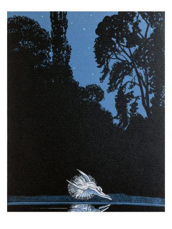 Death of Swan, Illustration, 'La Gazette du Bon Ton' inspired by Tchaikovsky's ballet 'Swan Lake' Giclee Print