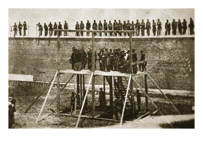 Execution of Lincoln Conspirators, Washington, DC, Giclee Print
