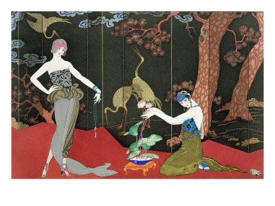 The Fashion for Lacquer, engraved by Henri Reidel, 1920 Giclee Print by Georges Barbier