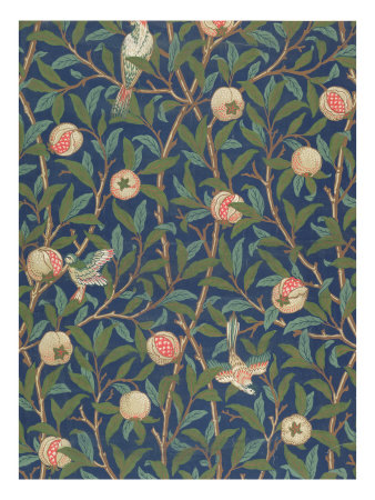 'Bird and Pomegranate' Wallpaper Design, printed by John Henry Dearle Giclee Print
