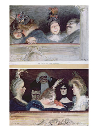 Merriment and Boredom, 1898 Giclee Print by Charles Leandre