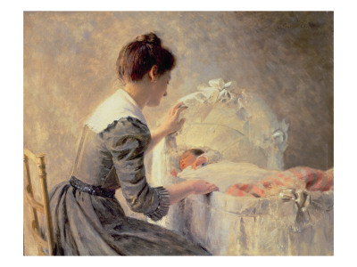 Motherhood, 1898 Giclee Print by Louis Adan