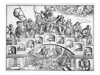 The Nine Ages of Man Giclee Print by Jorg Breu