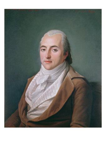 Portrait of Claude Henri de Rouvroy, Count of Saint-Simon, aged 35, 1848 Giclee Print by Hippolyte Ravergie