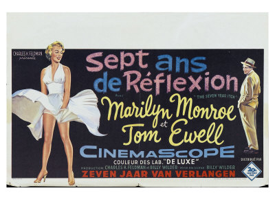 The Seven Year Itch, Belgian Movie Poster, 1955 Prints