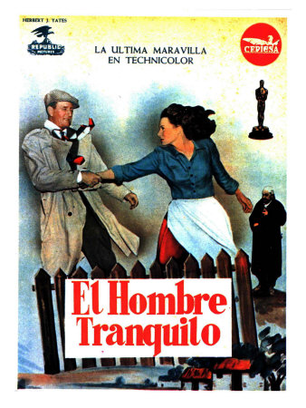 The Quiet Man, Spanish Movie Poster, 1952 Posters