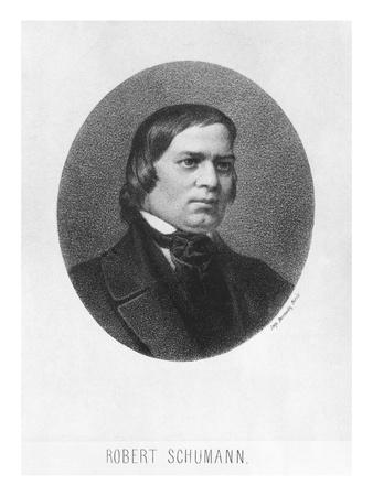 Robert Schumann, 1839 Giclee Print by Josef Nikolaus Kriehuber