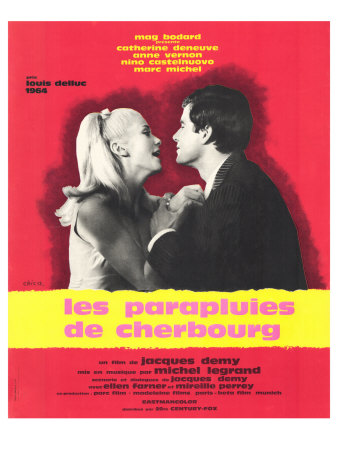 The Umbrellas of Cherbourg, French Movie Poster, 1964 Prints