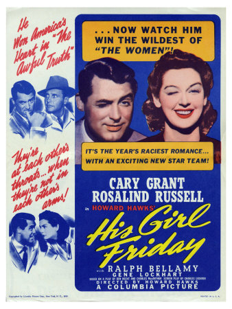 His Girl Friday, 1940 Poster
