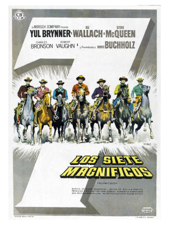 The Magnificent Seven, Spanish Movie Poster, 1960 Posters