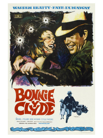 Bonnie and Clyde, Spanish Movie Poster, 1967 Poster