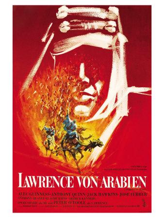 Lawrence of Arabia, German Movie Poster, 1963 Prints