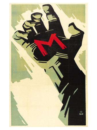 M, German Movie Poster, 1931 Poster