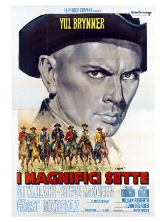 The Magnificent Seven, Italian Movie Poster, 1960 Prints