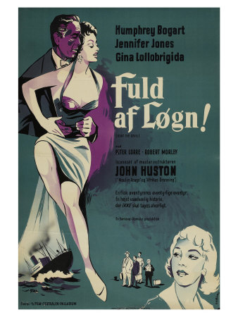 Beat the Devil, Danish Movie Poster, 1953 Art