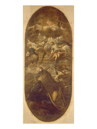 Jacob's Ladder Giclee Print by Domenico Tintoretto