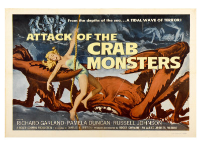 Attack of the Crab Monsters, 1957 Posters