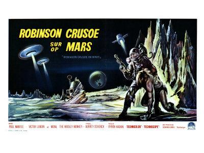 Robinson Crusoe on Mars, Belgian Movie Poster, 1964 Prints