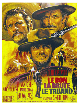 The Good, The Bad and The Ugly, French Movie Poster, 1966 Kunst