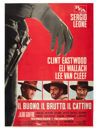 The Good, The Bad and The Ugly, Italian Movie Poster, 1966 Plakater
