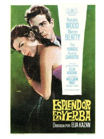Splendor in the Grass, Spanish Movie Poster, 1961 Print