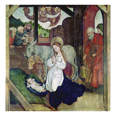 The Nativity, from the Altarpiece of the Dominicans, c.1470-80 Giclee Print by Martin Schongauer