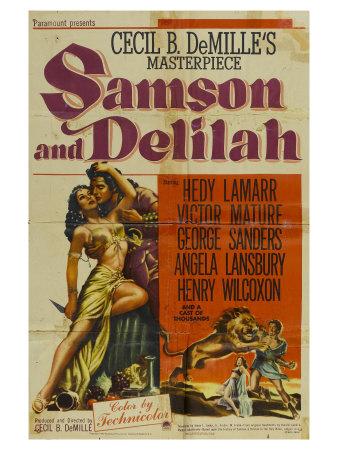 Samson & Delilah, 1949 Print