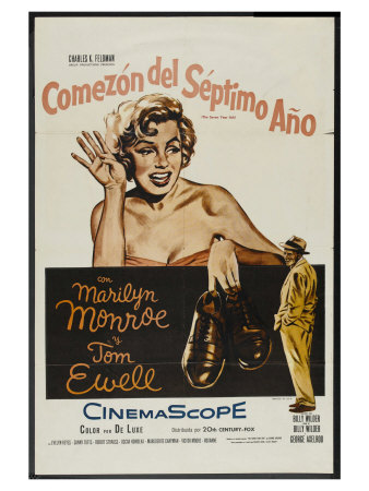The Seven Year Itch, Argentine Movie Poster, 1955 Print