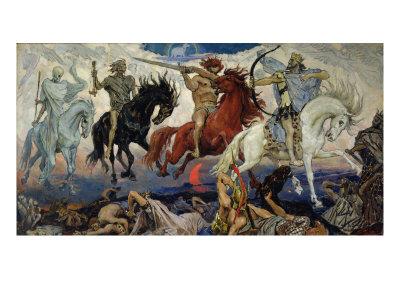 The Four Horsemen of the Apocalypse, 1887 Giclee Print by Victor Mikhailovich Vasnetsov