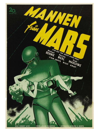 The Day The Earth Stood Still, Swedish Movie Poster, 1951 Poster