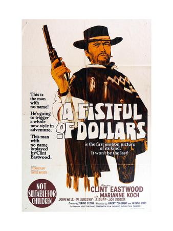 A Fistful of Dollars, Australian Movie Poster, 1964 Print