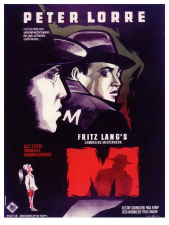 M, Belgian Movie Poster, 1931 Prints