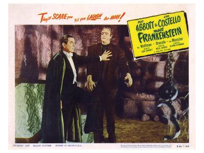 Bud Abbott Lou Costello Meet Frankenstein, 1948 Art