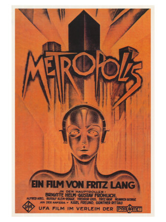 Metropolis, Brazilian Movie Poster, 1926 Art