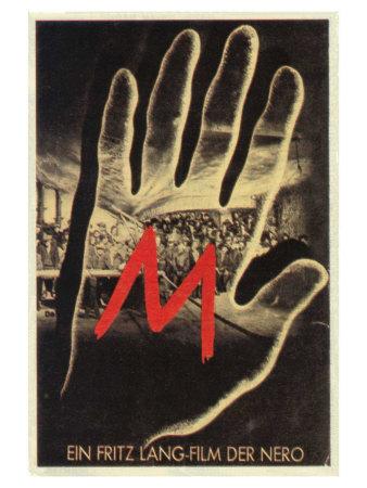 M, German Movie Poster, 1931 Prints