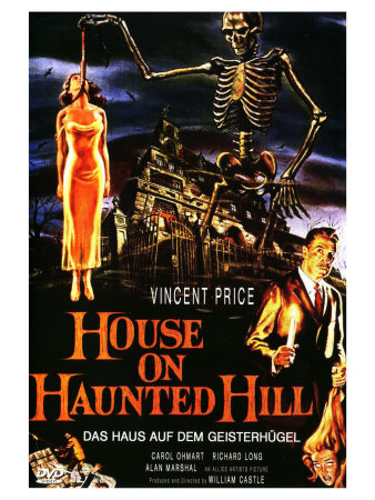 House On Haunted Hill, German Movie Poster, 1958 Prints