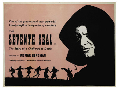 The Seventh Seal, UK Movie Poster, 1957 Prints