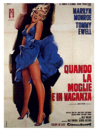 The Seven Year Itch, Italian Movie Poster, 1955 Prints